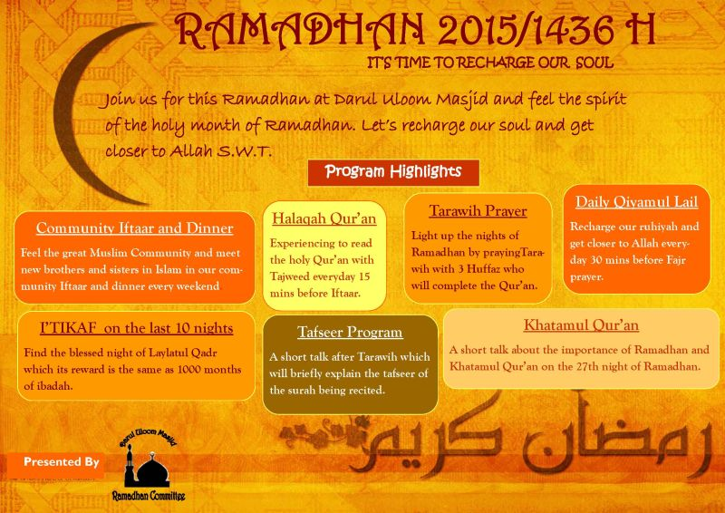 DU Ramadhan program flyer 2015  V1